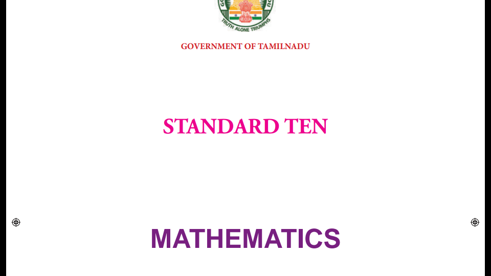 Maths 10th new syllabus 2019-20 TAMIL NADU