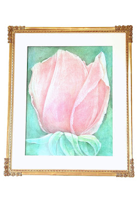 NEORGASM luxury Pink interior decor / shop french decor Rose painting