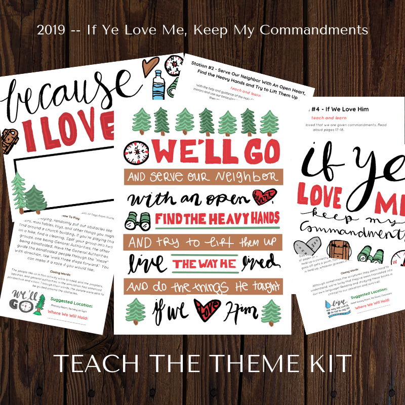 Printspiration: 2019 If Ye Love Me, Keep My Commandments
