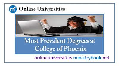 Most Prevalent Degrees at College of Phoenix