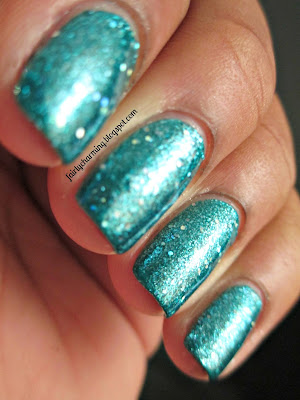 Sephora by OPI I'm So Sari!, teal, turquoise, glitter, holo, swatch, nails