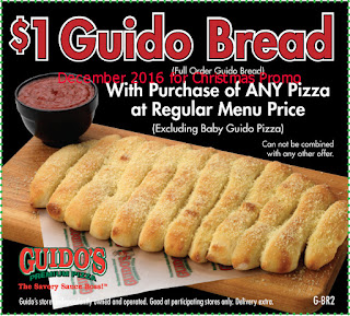 Guidos Pizza coupons december 2016