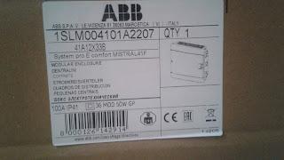 Маркировка щита Mistral 41 от ABB