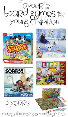 favorite board games for young kids