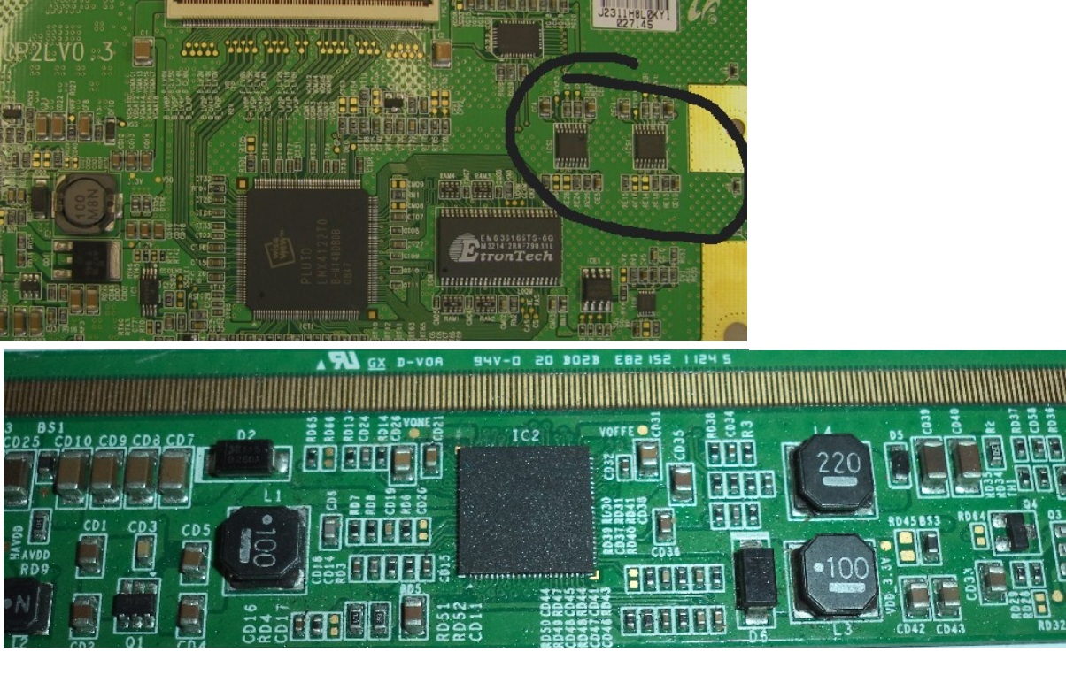 How To Repair Samsung Lcd Tv Panel Screen Part 1 Of 5 Electro Help Bd139 Nxp Philips Original Transistor Generally If Configuration Permits You Have Check The Printed Wire Circuit From T Con Both Left Right Pwbs In Connection For All