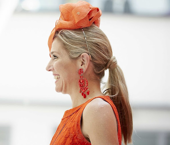 Queen Maxima of The Netherlands attends the official opening of the JKZ Juliana Kinderziekenhuis (Juliana Children's Hospital)