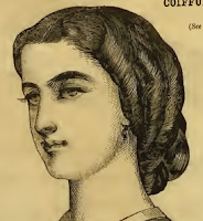 Curls arranged as rolls, Harper's Bazaar,1867