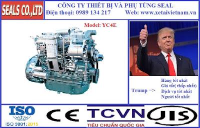 Phụ tùng động cơ yuchai chính hãng tại hà nội - model yuchai YC4E