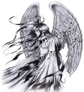 тату девушка ангел