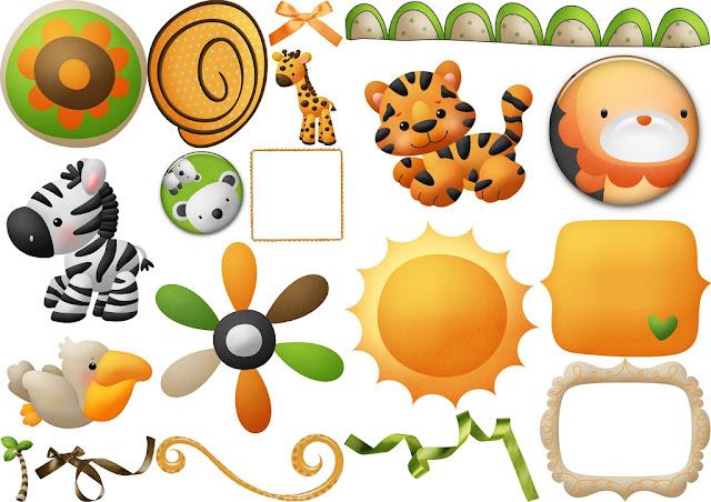 Jungle Babies Clip Art..