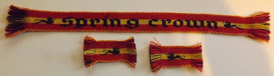 A photograph of the Spring Crown prize tablet woven bands