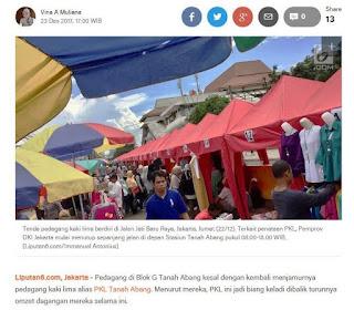 Flash True Story, Kisah Nyata, Real Story, PKL Tanah Abang