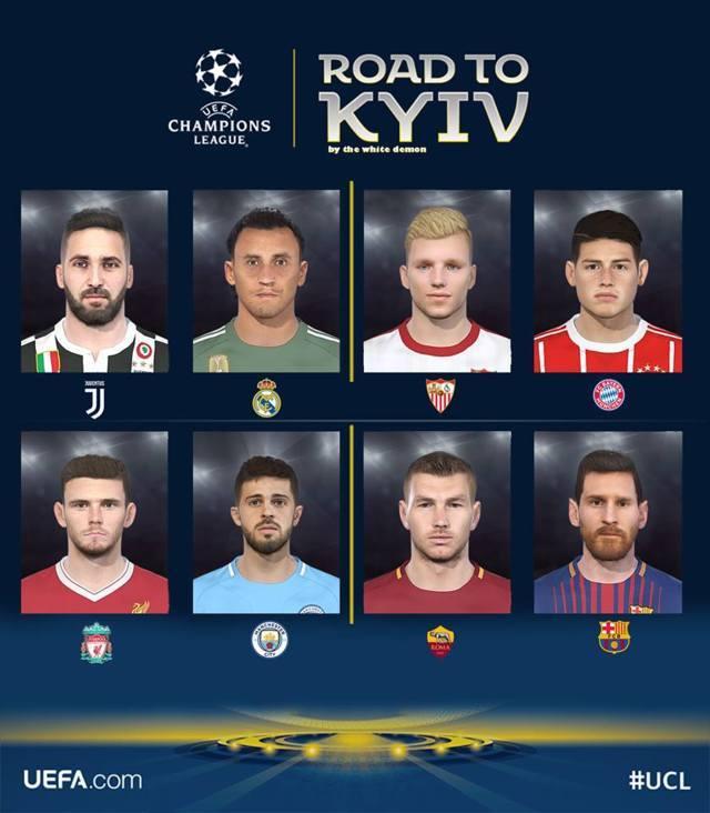 Champions League 2018 Facepack PES 2018