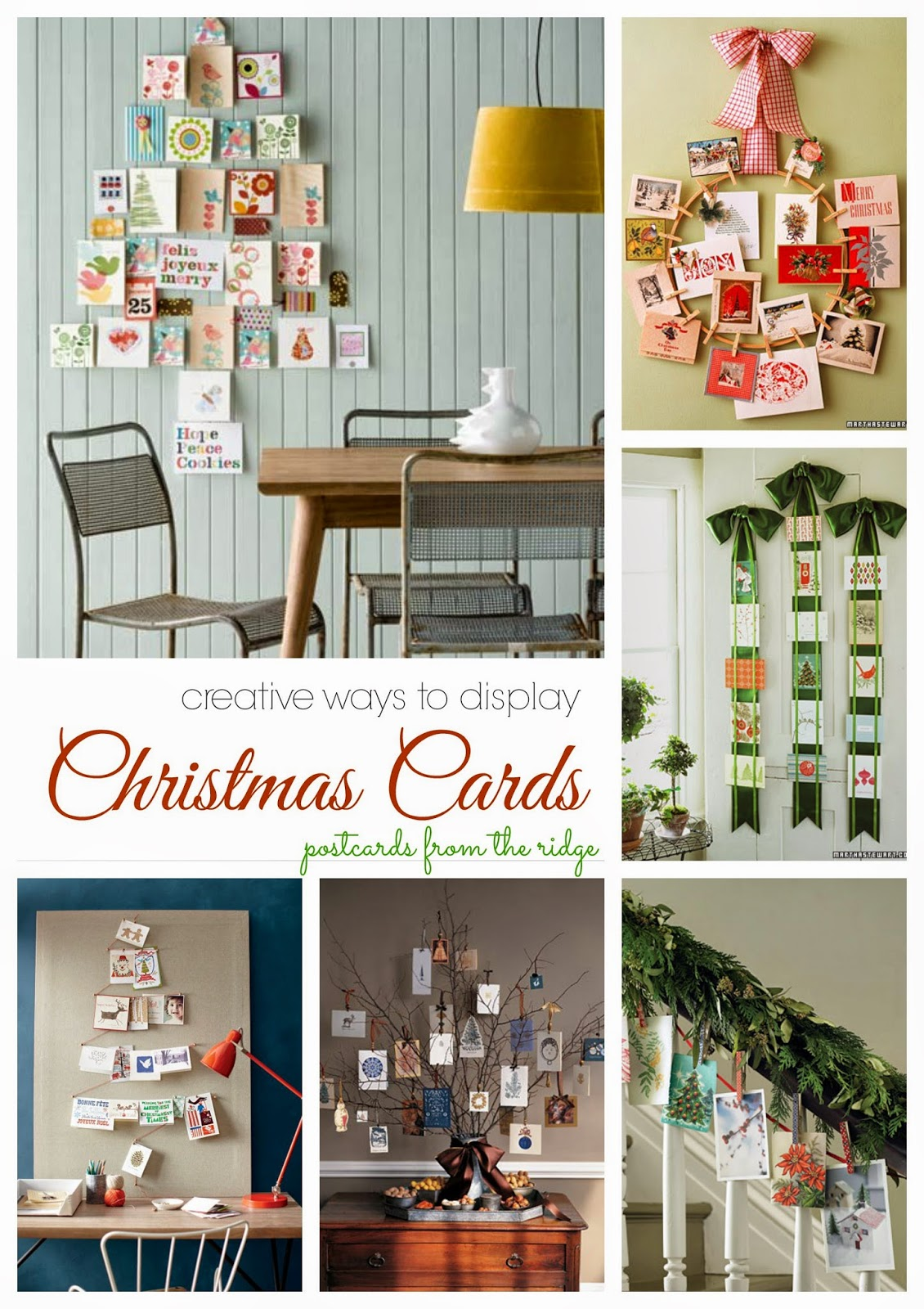 Creative Christmas card display ideas + a $25 discount on your cards
