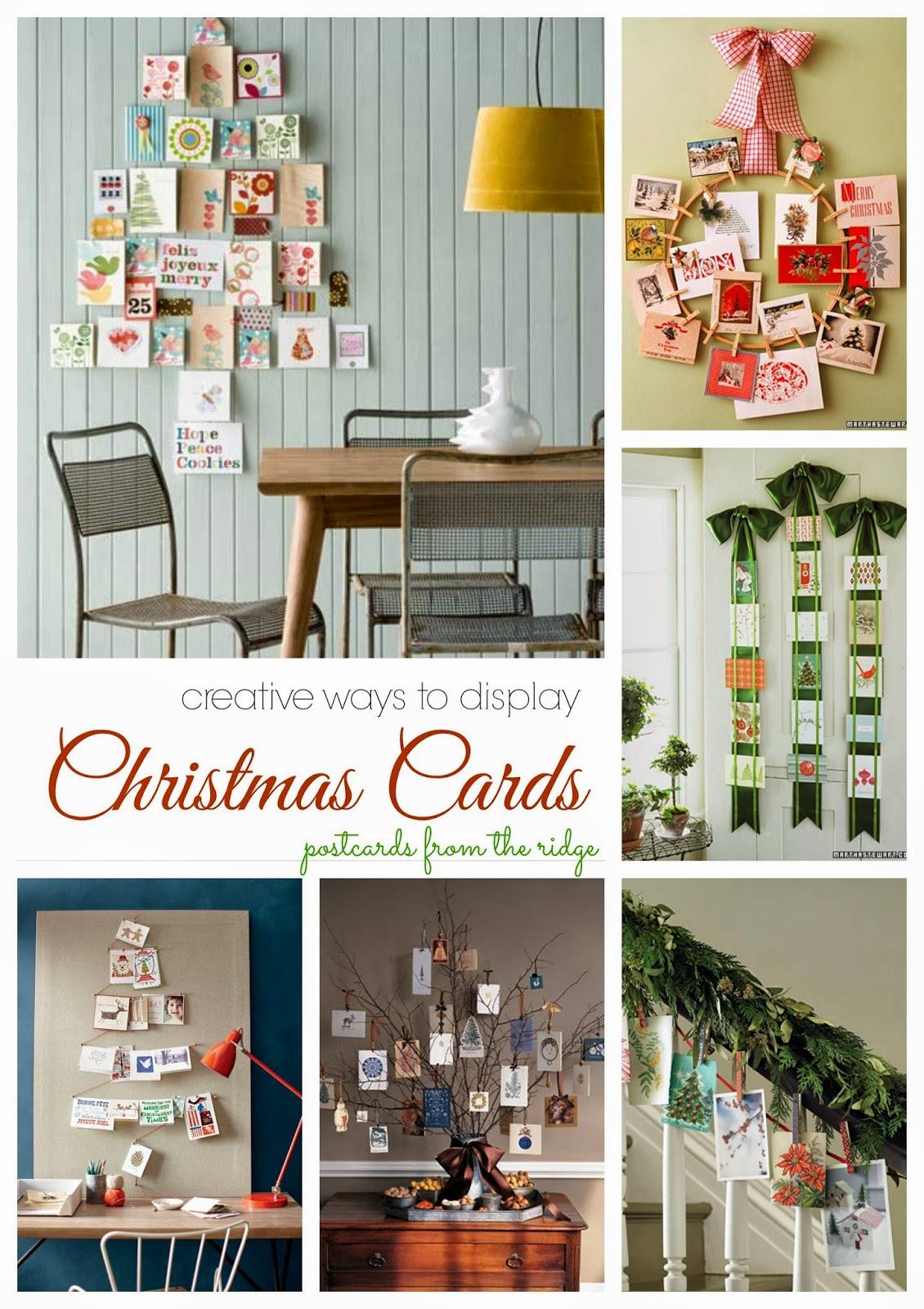 O Christmas Card O Christmas Card Creative Ideas For Display And