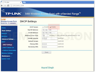 5 Guide To Set Up TP Link (TL-WA500G) As DHCP Wireless Access Level. Root