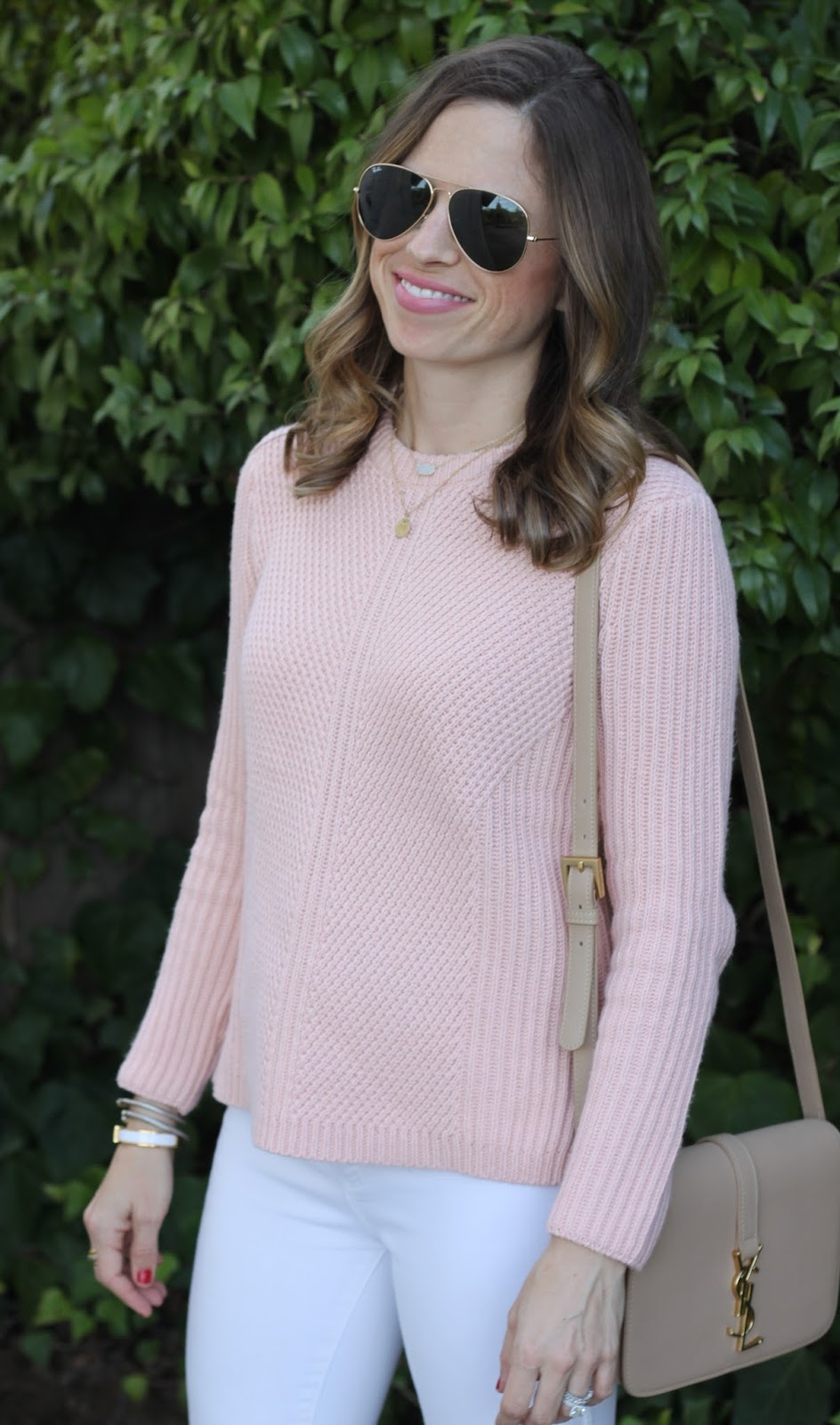 blush pink sweater