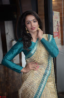 Tejaswi Madivada looks super cute in Saree at V care fund raising event COLORS ~  Exclusive 014.JPG