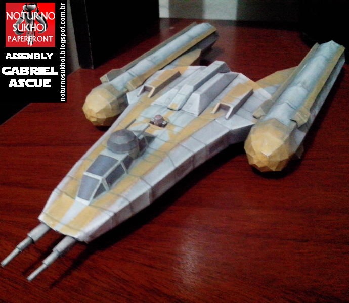 BTL-B Y-wing Starfighter Papercraft