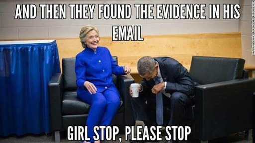 """And then they found the evidence in his email."" ""Girl, stop, please stop..."""