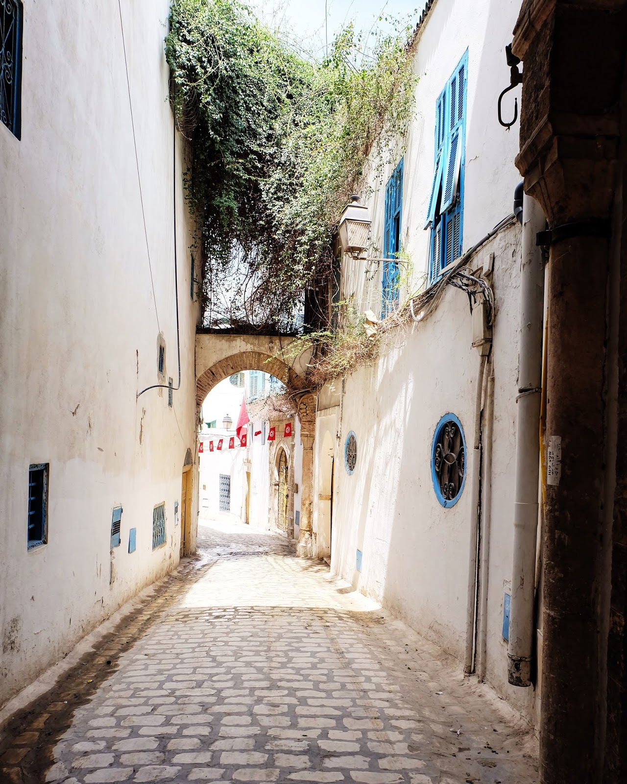 Alley ways in Tunis, Tunisia