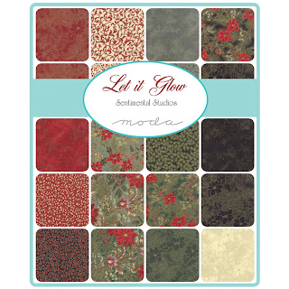 Moda LET IT GLOW Metallic Fabric by Sentimental Studios for Moda Fabrics