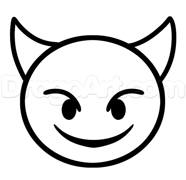 How To Draw Devil Emoji Step Coloring Pages Printable And Coloring Book To  Print For Free Find More Coloring Pages Online For Kids And Adults Of How  To