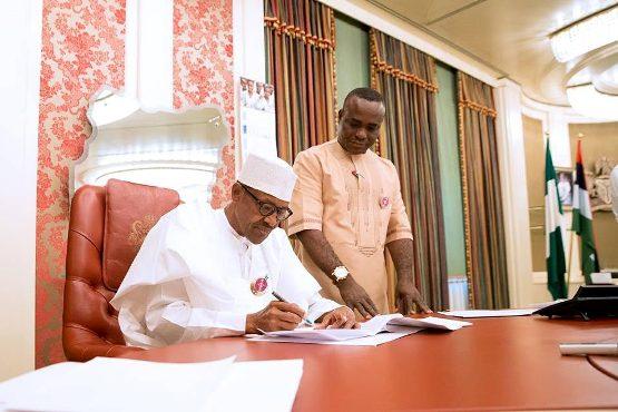 Photos: Pres Buhari signs Endangered Species Control bill into law