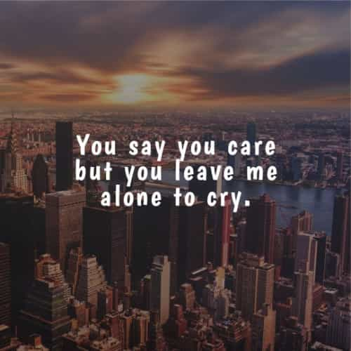 Sad life quotes and sayings to teach you a lesson