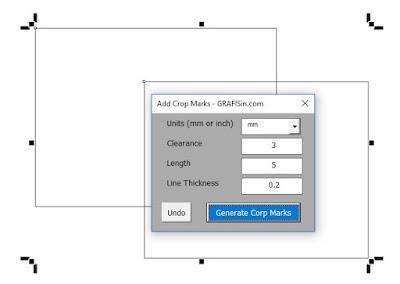 GRAFISin Free Macro CropMark for CorelDraw