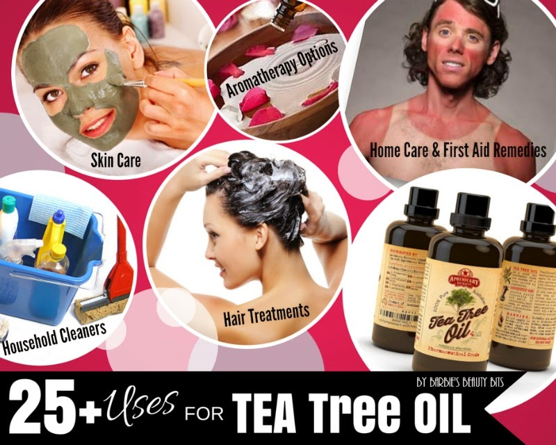 25 Plus Uses For Tea Tree Oil & Giveaway, By Barbie's Beauty Bits