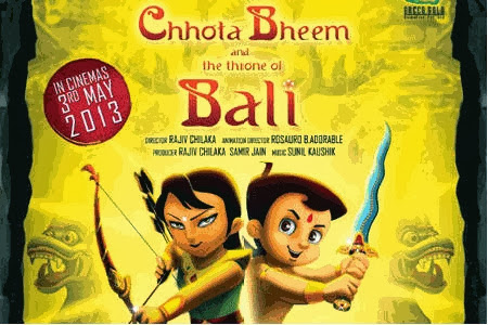 Poster Of Bollywood Movie Chhota Bheem and the Throne of Bali (2012) 300MB Compressed Small Size Pc Movie Free Download worldfree4u.com