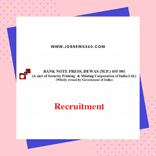 BNP Dewas Recruitment 2019 for Supervisor & Workmen (69 Vacancies)