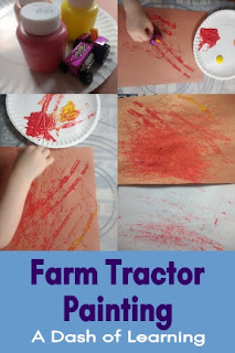 Farm Tractor Painting: Preschool Process Art Activity