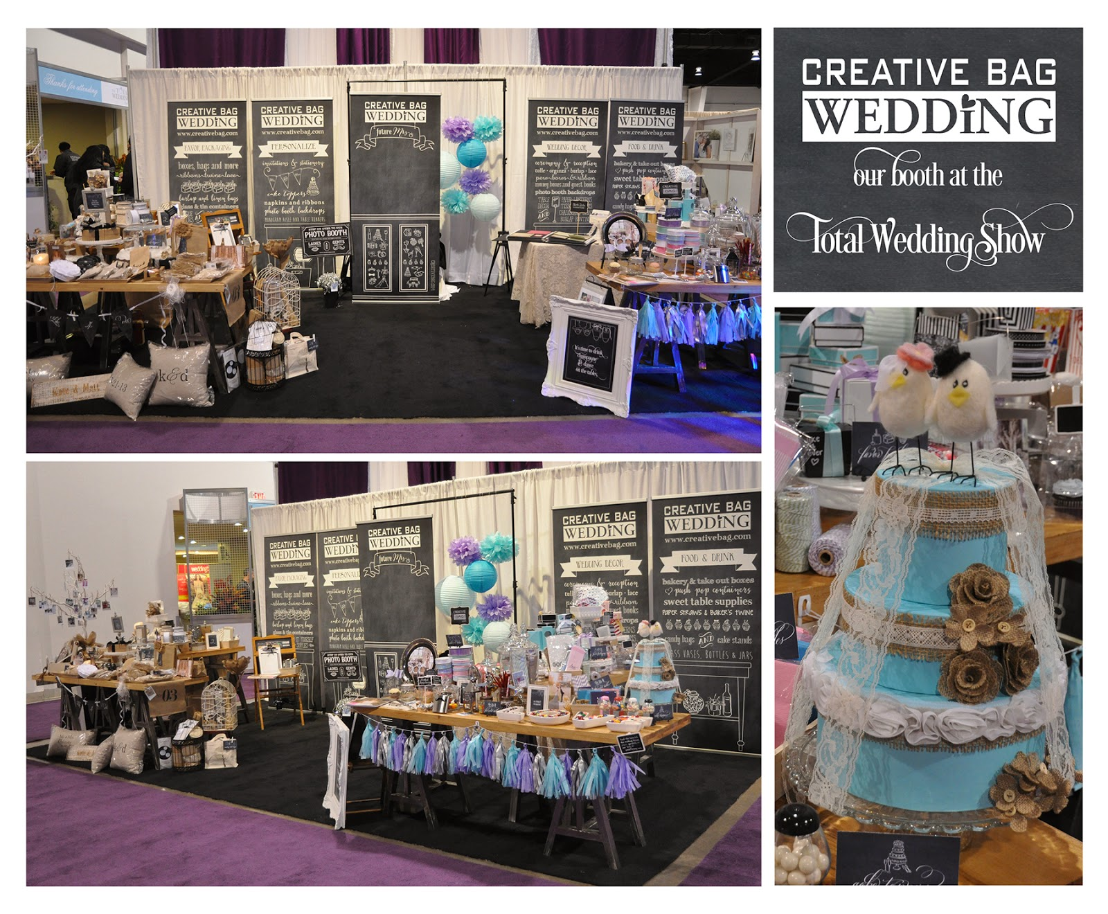 Creative Bag Wedding booth at the Total Wedding Show 2014