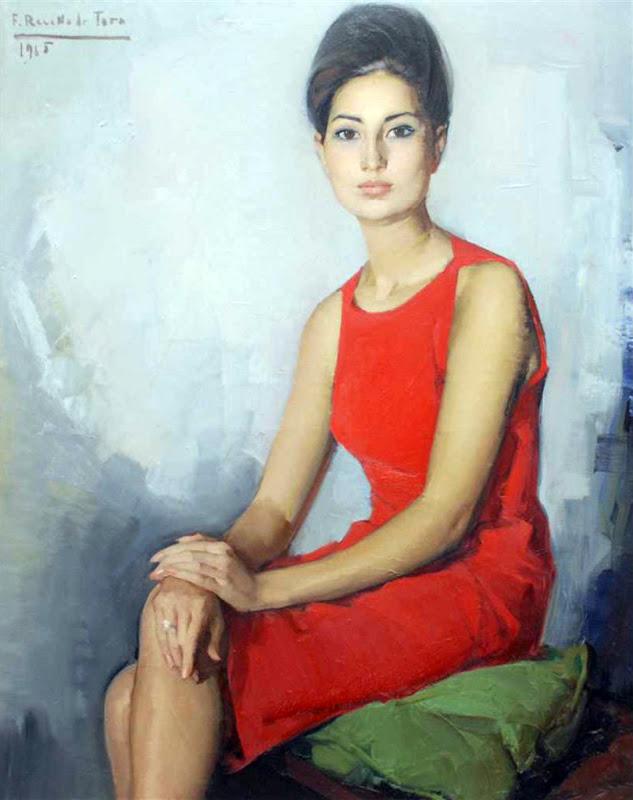 Retrato de Dama (1965), Félix Revello de Toro, Revello de Toro, Pintores Malagueños, Retratos de Revello de Toro, Pintor español, Pintores de Málaga