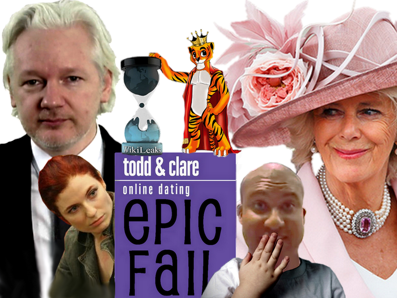 Todd And Clare Julian Assange And The Duchess Of Cornwall Iron Troll