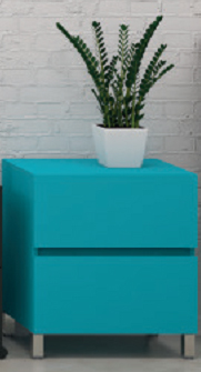 mueble baño auxiliar azul ruedas