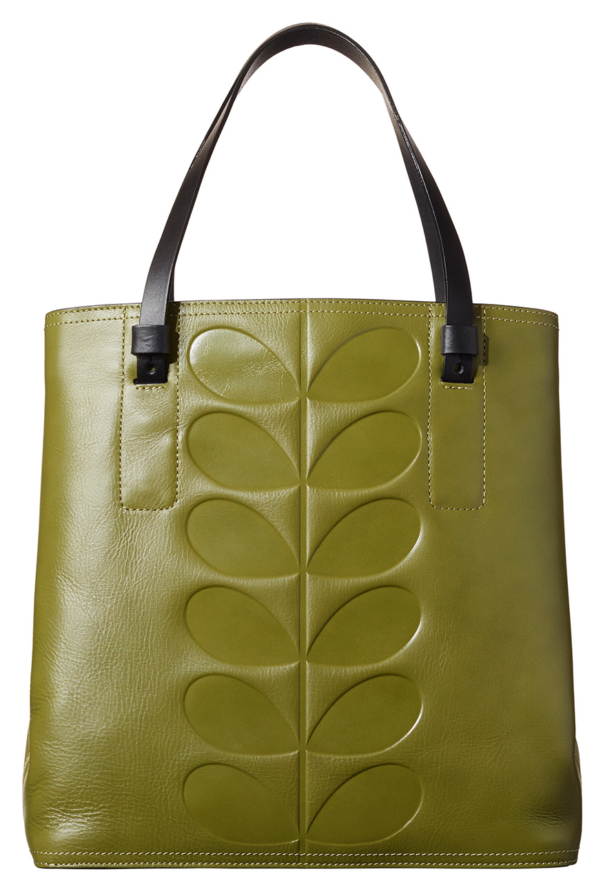 77ade0cff0bd1 I Love Orla Kiely  Orla Kiely Embossed Stem in Fawn and Olive Green