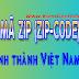 Mã bưu điện, Zip code - Postal code các tỉnh thành phố tại việt nam