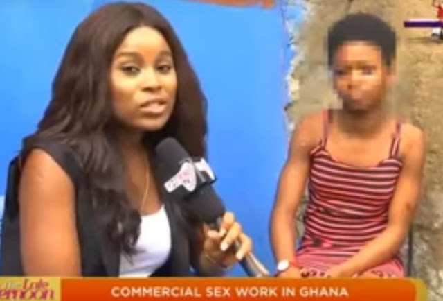 17-year-old Ghanaian prostitute who sleeps with 15 men a night for GH₵20 [Watch Full Video]