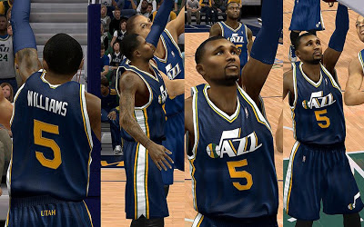 NBA 2K13 Utah Jazz Away Jersey Patch