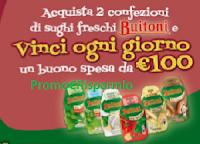 Logo Buitoni Sughi Freschi: vinci 79 buoni spesa da 100€