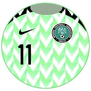 bd862bf83e Nigeria 2018 - camisa titular