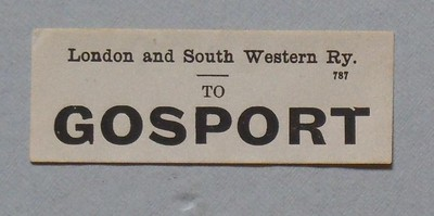 Gosport Luggage label