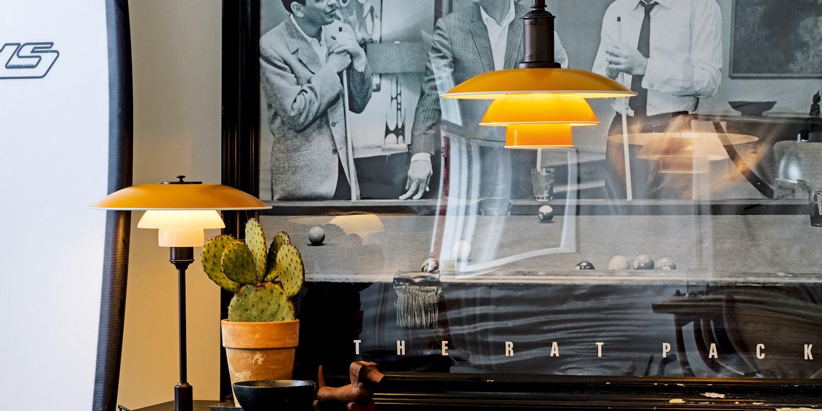 Lampa w stylu retro