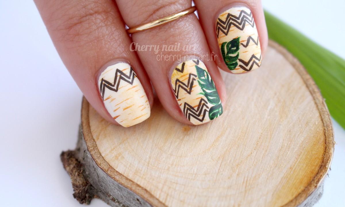 nail-art-nature-bois-chevrons-feuille-treez