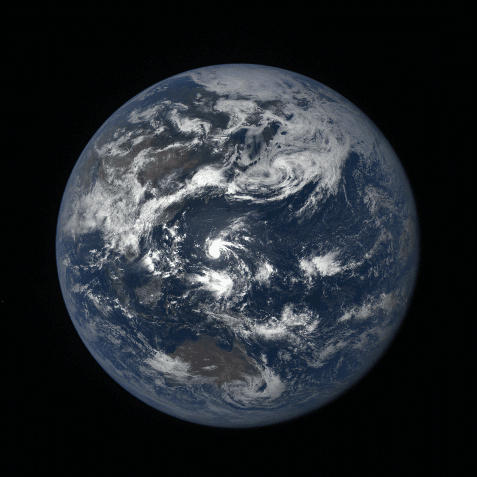 Earth Seen By DSCOVR Observatory From 1 Million Miles Away