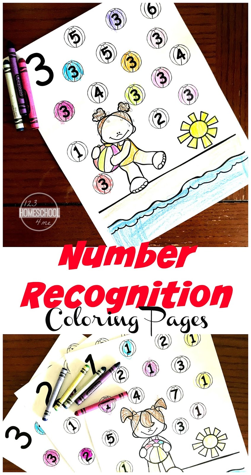 FREE Summer Number Recognition