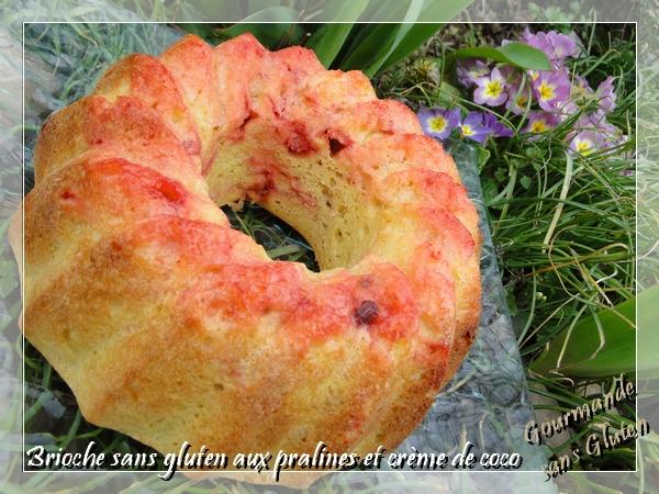 Brioche sans gluten aux pralines et crème de coco